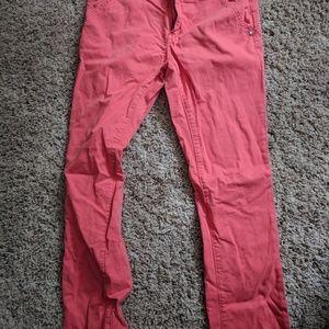 Pilcro orange cropped jeans